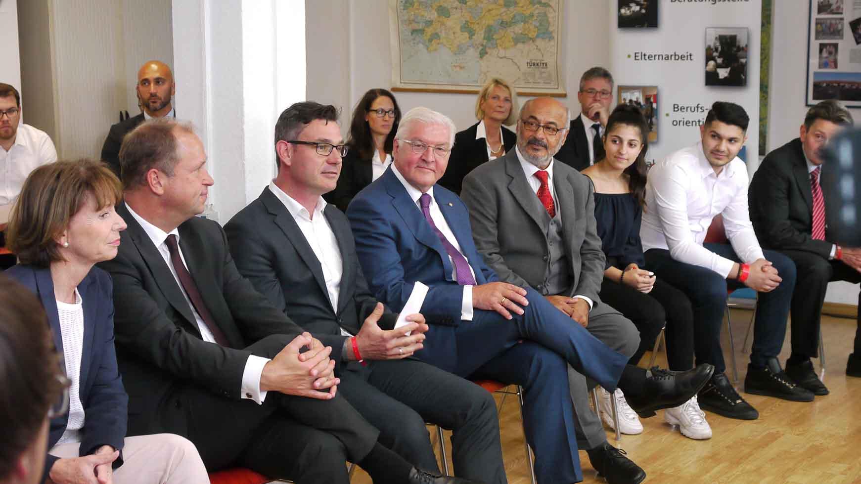Besuch des Bundespräsidenten Steinemeier bei Coach e.V. im Sommer 2018
