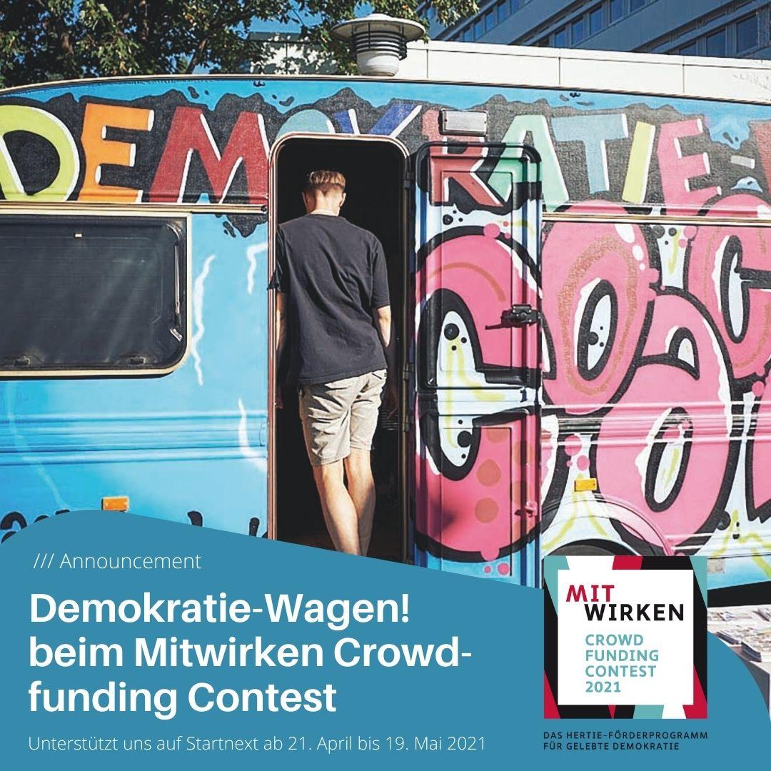 Demokratie-Wagen! bei Startnext