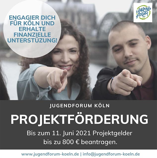 Jetzt Projektantrag beim Jugendforum Köln einreichen!